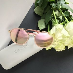 Calvin Klein rose gold sunglasses
